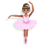 Cute ballerina in a pink tutu. Vector illustration. Stock Photos