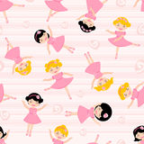 Cute ballerinas seamless pattern Royalty Free Stock Images