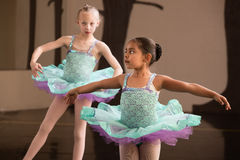 Free Cute Ballet Students Twirling Royalty Free Stock Image - 25336626