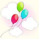 Cute balloons Royalty Free Stock Images