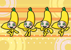 Cute banana girl Royalty Free Stock Photos