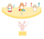 Cute Band. Illustrayion of a cute band of animals Royalty Free Illustration