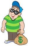 Cute bank thief. Vector illustration Stock Photo