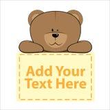 Cute Banner Bear Stock Photo