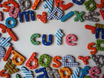 Cute banner with colorful letters royalty free stock images