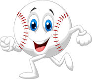 Cute baseball ball cartoon running Stock Photo