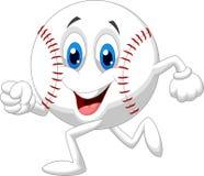 Cute baseball ball cartoon running. Illustration of Cute baseball ball cartoon running Stock Photo