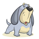 Cute Basset Hound dog cartoon. Vector illustration Stock Photos