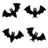 Cute bat. Cute  bat in 4 different varieties Stock Image