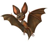 Cute bat 3. 3D render of a cute toon bat royalty free illustration