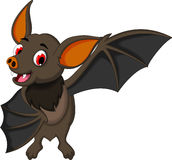 Cute bat cartoon posing Stock Photos