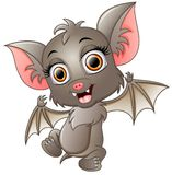 Cute bat cartoon waving. Illustration of Cute bat cartoon waving Royalty Free Stock Image