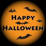 Cute bat. Happy Halloween card. Royalty Free Stock Image