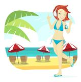 Cute Beach Girl Royalty Free Stock Images