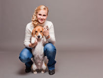 Cute beagle. Royalty Free Stock Photos