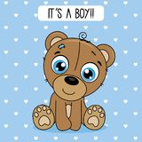 Cute bear with blue background Royalty Free Stock Photos