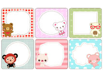 Cute bear card Stock Image