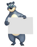 Cute Bear cartoon character with white board Royalty Free Stock Photos