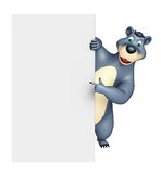 Cute Bear cartoon character with white board Royalty Free Stock Images