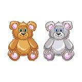 Cute bear cartoon sitting Stock Image