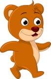 Cute Bear cartoon walking Royalty Free Stock Image