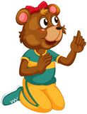 A cute bear character. Illustration stock illustration