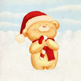 Cute Bear Christmas Card Stock Images