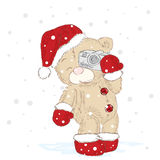 Cute bear cubs that were drawn by hand. Cute teddy bears vector. New Year Christmas. Royalty Free Stock Photos
