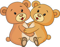 Cute bear embrace each other Royalty Free Stock Photo