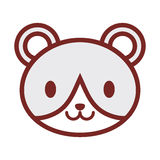 Cute bear face image Stock Photo