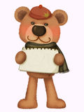 Cute bear in Fall. Cute bear illustrations used in all kinds of design Stock Image