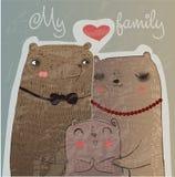 Cute bear family Stock Photos