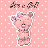 Cute bear girl Royalty Free Stock Image