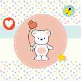 Cute bear, greeting card Stock Image
