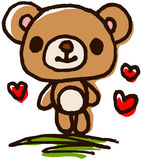 Cute bear hand-painted Royalty Free Stock Photography