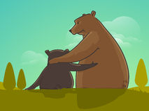 Cute bear for Happy Fathers Day celebration. Stock Photo
