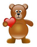 Cute Bear with Heart. Illustration of a cute bear with a heart Vector Illustration