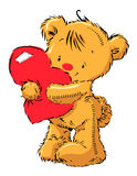Cute bear with heart Royalty Free Stock Photography