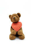 Cute bear holding heart Royalty Free Stock Photography