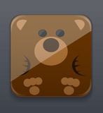 Cute bear icon Royalty Free Stock Photo