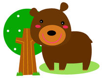 Cute bear. Illustration of a cute bear Stock Photo