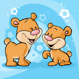Cute bear illustration on abstract background Royalty Free Stock Photo
