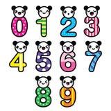 Cute bear Kawaii numbers set -  Stock Photography