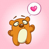 Cute bear in love with speech bubble. Vector illustration Stock Image