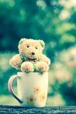 Cute bear and mug Royalty Free Stock Photo