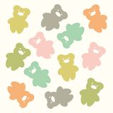 Cute bear pattern Stock Image