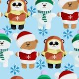 cute bear pattern frosty Royalty Free Stock Photos
