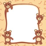 Cute Bear Photo Frame / Cute Bear Card Template Royalty Free Stock Photography