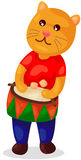 Cute bear playing drum Stock Photo