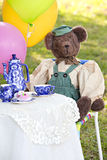 Cute bear at tea party Stock Photos